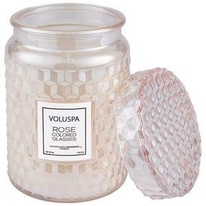 Voluspa ROSE COLORED GLASSES LARGE JAR CANDLE